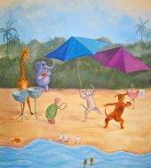 Caribbean Party Mural