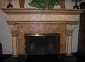 Fireplace Surround with Faux Stone