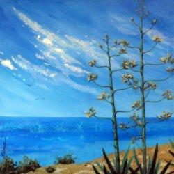 Agave In Bloom (Baja Landscapes # 21)
