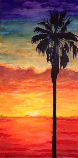 Palm at Sunset, Baja Landscapes # 27